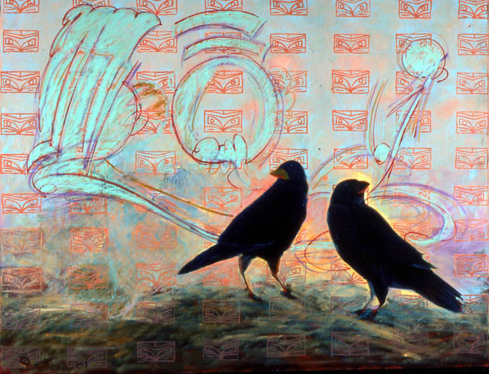 Crowstories #20-66x76-Acrylic canvasA